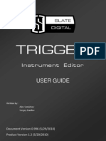 Trigger Instrument Editor User Guide