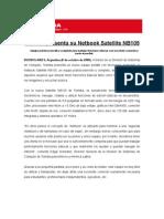 Gacetilla Netbook Toshiba NB105