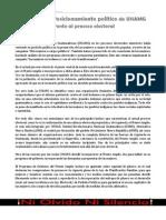 Posicionamiento de UNAMG Frente Al Proceso Electoral