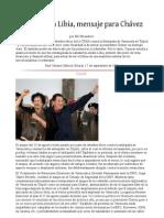 Revuelta en Libia,mensaje para Chávez
