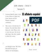 Spanish Lesson1
