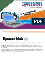 Procesador de Texto -MS Word-2000 - 2003