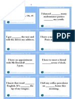 Prepositions in, On, At Cards