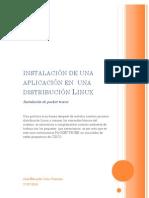 instalación de una  aplicación en  una distribución Linux