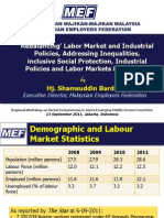 Rebalancing, labor market and industrial policies, addressing inequalities, inclusive social protection Industrial policies and labor markets in Malaysia (Presentation)