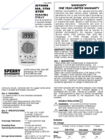 Sperry Dm-350a Test Meter Manual
