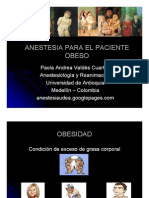 Anestesia Para El Paciente Obeso - Obesity
