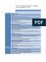 Conference Programme 2nd Hpeq International Conference