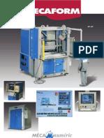 Especificaciones técnicas de las prensas y hornos de termoformado Mécanuméric MECAFORM para el termoformado de plásticos