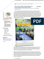 Hukum Jamuan Makan (Pada Tahlilan Atau Kenduri Arwah) Menurut Syariat Islam (1