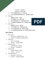 Grammar Notes for Exam