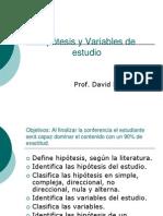 Hipótesis y Variables de estudio