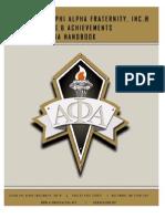 Au Awards & Achievements Criteria Handbook
