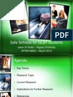 PPT Safe Schools for GLBT Students