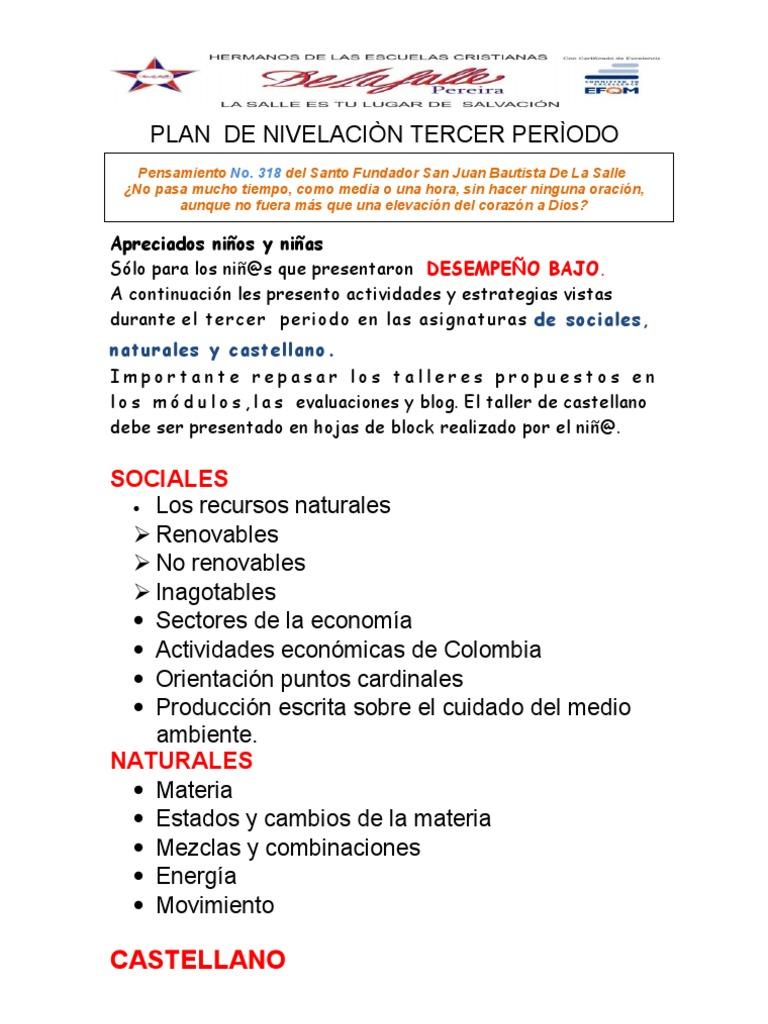 Excelente Hojas De Trabajo De Los Recursos Naturales Friso - hojas ...