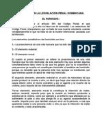 HOMICIDIO EN LA LEGISLACIÓN PENAL DOMINICANA