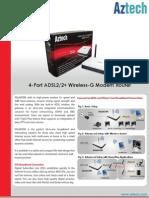 Aztech DSL605EW Datasheet