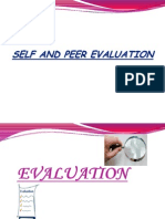 Self and Peer Evaluation