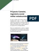 Proyecto Camelot, ingeniería social militar estadounidense _ defensatum