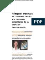 Hildegarde Staninger, su conexión Jesuita y la campaña psicológica de su teoría de los chemtrails _ defensatum