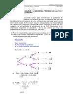 Ejercicios Probabilidad Condicional Teorema de Bayes e In Depend en CIA de Eventos