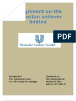 Assignment on the Hindustan Unilever Limited