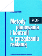 Beliczyński Jan _ Metody planowania i kontroli w zarządzaniu reklamą