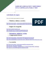 ACTIVIDADES+DE+AMPLIACIÓN+Y+REFUERZO++LENGUA+CASTELLANA+PARA+1º+ESO