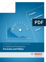 4. Statistical Procedures Formulas and Tables