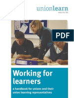 Working for Learners - ULR Handbook