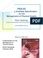A Publicly Available Specification for the Management of Physical Assets