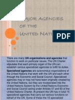 Major Agencies of the UN