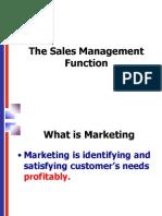 1 Sales Management Function