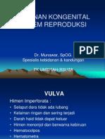 Kelainan Kongenital Vulva & Vagina