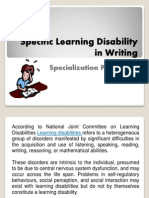 Specific Ld in Writing Ppt