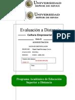 2ª  Evaluación a Distancia _ CULTURA - ADMINIST..