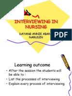 Interviewing in Nursing