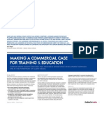 Making a commercial case for training and education