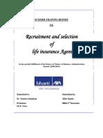 30711167 Summer Training Report on Recruitment of Advisors for Bharti Axa Life Insurance
