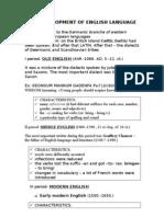 The Development of English Language