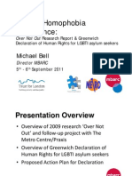 Over Not Out Research Report & Greenwich  Declaration of Human Rights for LGBTI asylum seekers