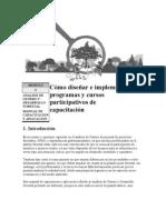 Cómo diseñar e implementar programas y cursos participativos de Capacitación.