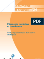 Document de Travail 24 Economie Numerique Croissance Mai 2011