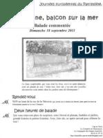 Tract Mourepiane Balade 2011