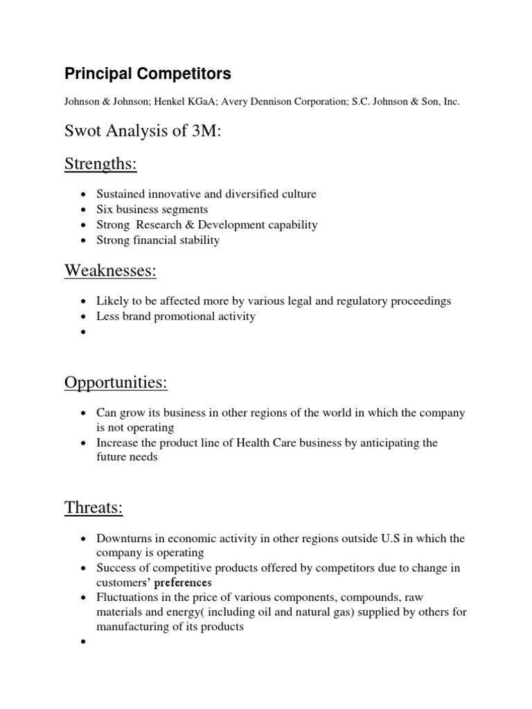 3M Swot Analysis