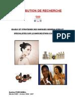 Enjeux Et Strategies Des Marques Generalistes Et Specialistes Sur Le Marche Ethno-cosmetique
