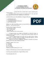 Carta Convite Congresso Mirim 2
