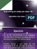 Subnetting en redes de clase «B»
