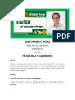 Programa de Gobierno Dr. PEPE ORLANDO