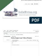 Mrita Sanjeevani Vidya_Mantra